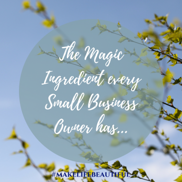 The Magic Ingredient every Small Business Owner has….