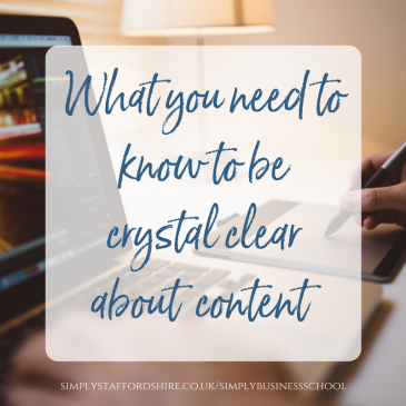 What you need to know to be crystal clear about content…